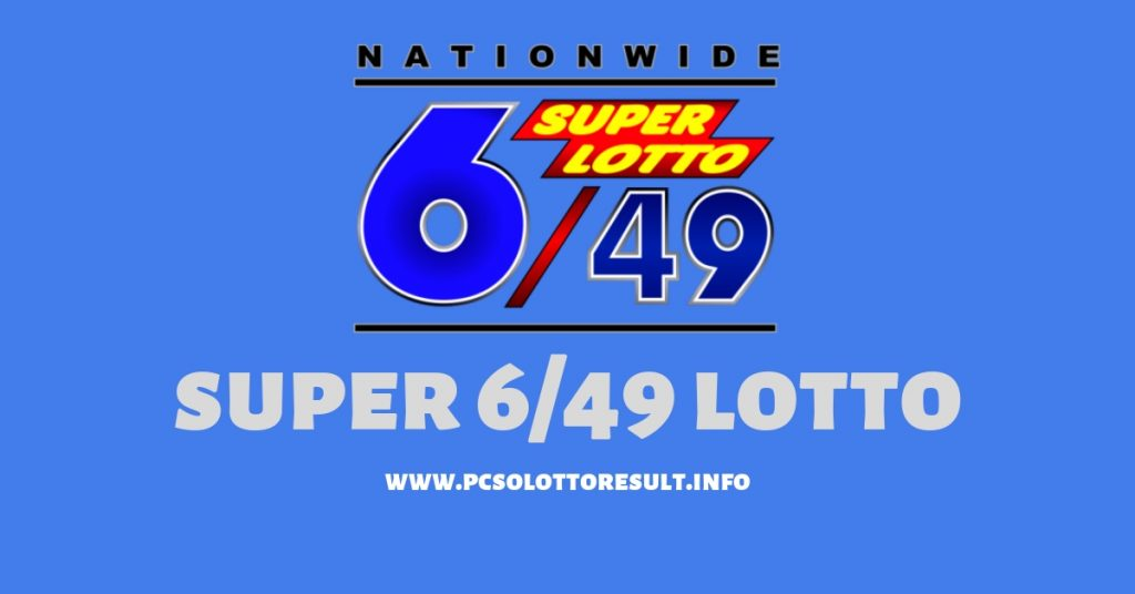 6/49 lotto result today